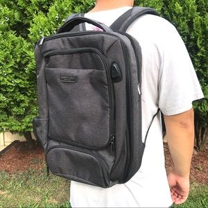 NEW Kenneth Cole Grey Utility Backpack